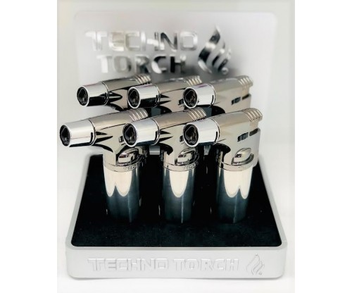 Silver Triple Techno Torch (1Q=6pcs) 1pc=$5.00