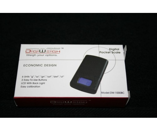 DIGIWEIGH DW-1000BC DIGITAL POCKET SCALE(3pc=1Q)($3/each)